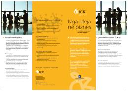 Nga ideja në biznes - Innovation Centre Kosovo
