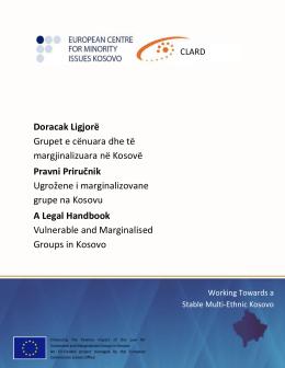 Doracak Ligjorë Grupet e cënuara dhe të margjinalizuara në Kosovë