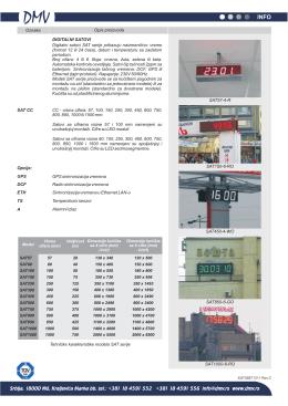 Temperaturni senzor TS Alarmni izlaz A DIGITALNI SATOVI