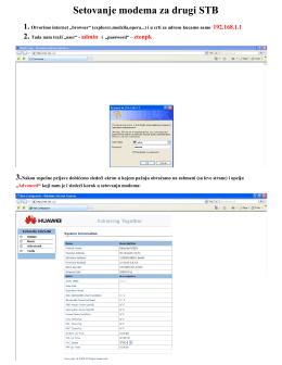 Uputstvo za podešavanje LAN2 porta za IPTV – Huawei HG520
