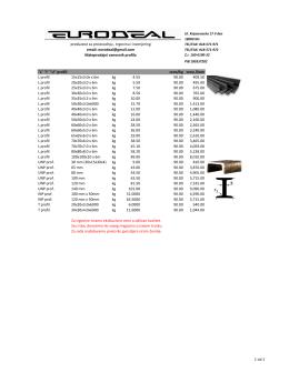 cena/kg cena /kom L profil 15x15x3.0x x 6m kg - eurodeal