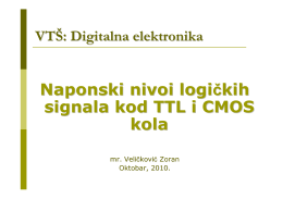 Naponski nivoi logičkih signala kod TTL i CMOS kola