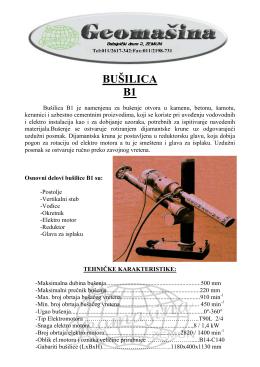 Prospekti mašina - geomasina.co.rs