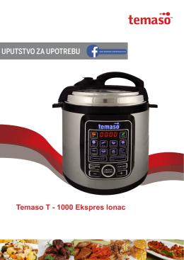 Korisničko uputstvo Ekspres Lonac T1000 Verzija 1.0.3..pdf