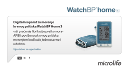 Digitalni aparat za merenje krvnog pritiska WatchBP Home S vrši
