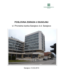 pbs zgrada u bugojnu - Privredna banka Sarajevo