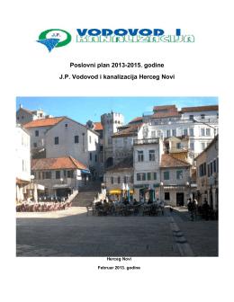 Poslovni plan do 2015. - Vodovod i kanalizacija Herceg Novi
