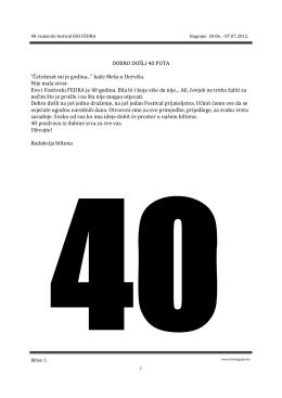 Bilten br.1 u pdf formatu. - KSC