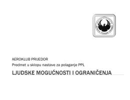 AEROKLUB PRIJEDOR Predmet u sklopu nastave za polaganje PPL