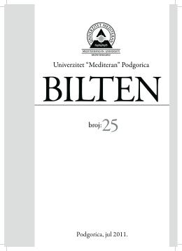 br.25 - Univerzitet Mediteran