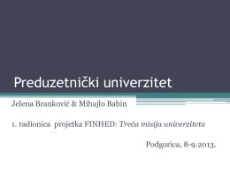 Preduzetnički univerzitet - Jelena Brankovic