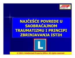 9. najčešće povrede u saobraćajnom traumatizmu i principi