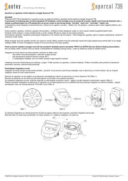 Uputstvo za ugradnju merila toplotne energije Supercal