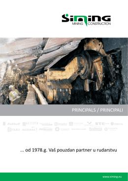 od 1978.g. Vaš pouzdan partner u rudarstvu