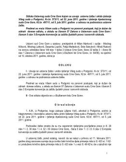Odluka Už-III br. 464-11-ND