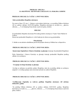 Predlog - odluka za 2014 - Geosonda