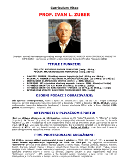 Read the Curriculum Vitae of Prof. Ivan Zuber