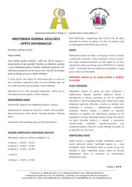 mektebska godina 2014/2015 - Islamski kulturni center Hidaje eV