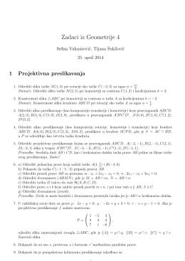 Zadaci iz Geometrije 4