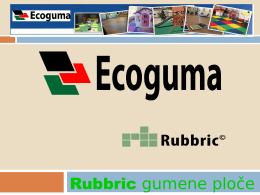 Eco Guma - Rubbric gumene ploče