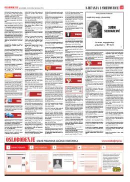 pregled smrtovnica za 01.12.2014