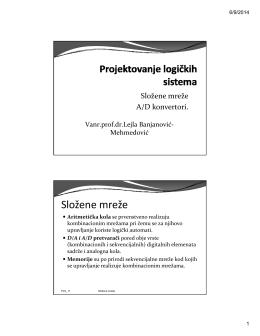 Predavanje 11 - Vanr.prof.dr. Lejla Banjanović