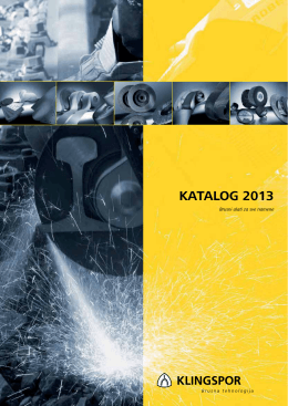 Klingspor brusni alati, 5. novembar 2013. (download PDF