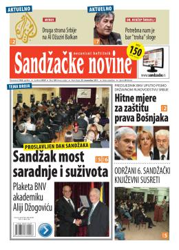 Sandžačke novine 150