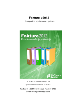 Fakture v2012 - Software Design