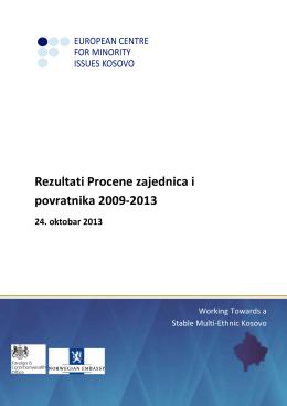 Rezultati Procene zajednica i povratnika 2009-2013