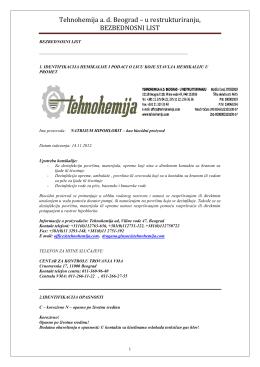 Natrijum hipohlorit kao biocid