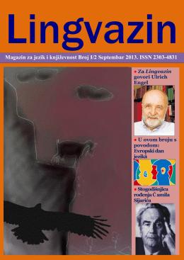 Lingvazin I/2, septembar 2013. - Institut za bosanski jezik i