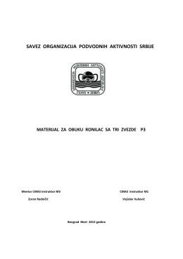 Materijal za obuku ronilaca P3