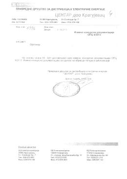 Izmena konkursne dokumentacije JN 9/2013 OPC