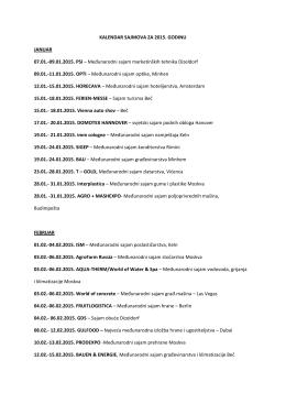 09.01.2015. PSI – Međunarodni sajam marketinških tehnika