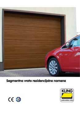 Segmentna vrata rezidencijalne namene