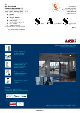 Sistem Automatskih Ssigurnosnih VRATA SAS sistem