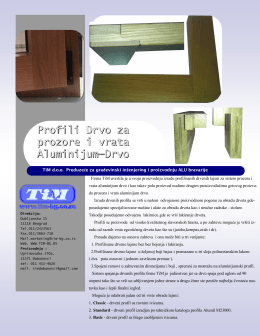 Profili Drvo za prozore i vrata Aluminijum—Drvo