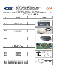 Katalog komponenti lifta
