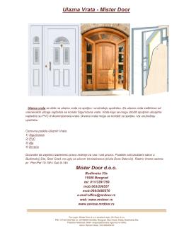 Katalog ulaznih vrata