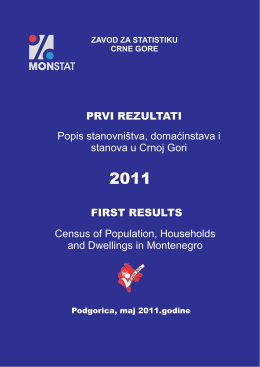 Popis stanovništva, domaćinstava i stanova u Crnoj Gori PRVI