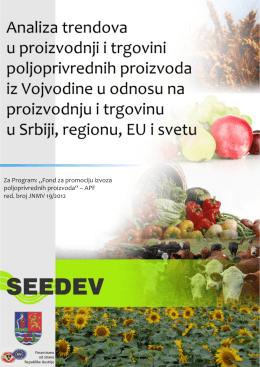 Analiza trendova u proizvodnji i trgovini poljoprivrednih proizvoda iz