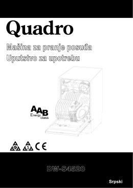 Uputstvo za upotrebu Mašina za pranje posuđa