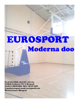 Moderna doo - Eurosport Moderna - Proizvodnja sportske opreme i