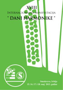 Raspored takmičara - Dani harmonike Smederevo