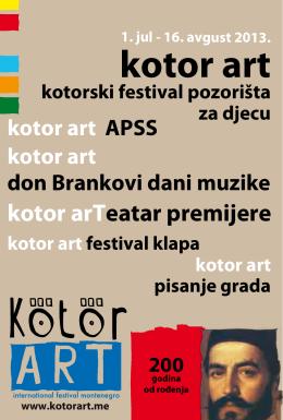 kotor art - kotorski festival pozorišta za djecu