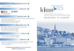 Mali Lošinj, Hrvatska  10. – 11. travnja 2015. Znanstveni odbor