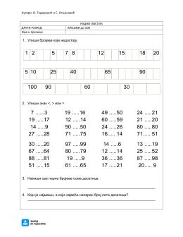 Radni listici – matematika 2