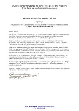 Drugi kongres Udruženja doktora opšte porodične medicine Crne