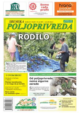 Sremska poljoprivreda broj 42 27. jun 2014.